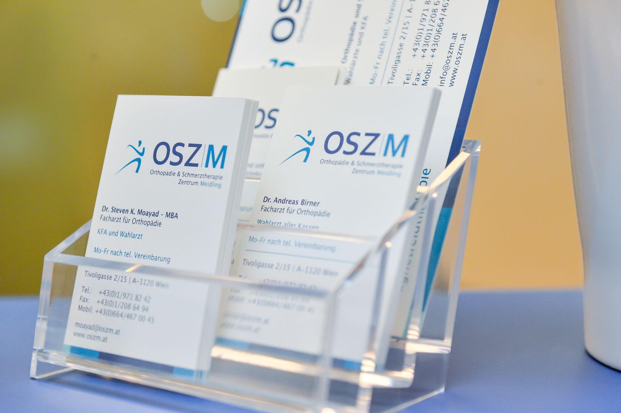 Visitenkarten des OSZM