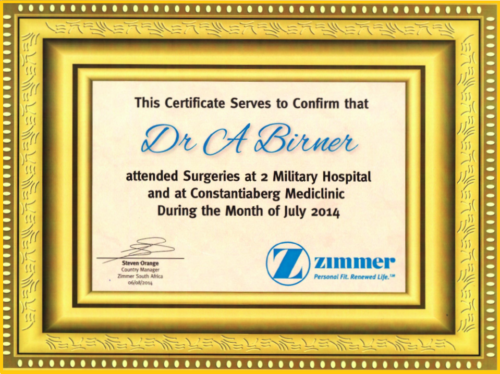 Certificate Surgeries at 2 Military Hospital 2014