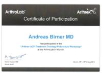 arthrex zertifikat